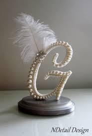 g cake topper wedding cake topper custom letter g vintage ivory pearl lace