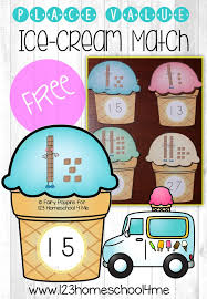 place value ice cream match