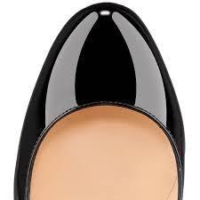 bianca 120 black patent leather women shoes christian louboutin
