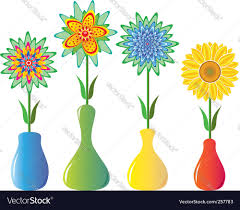 Flowers In Vases Images Flowers In Vases Royalty Free Vector Image Vectorstock