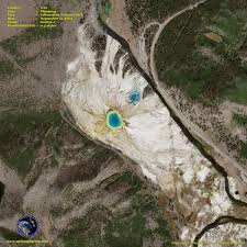 Map Of Yellowstone National Park Geoeye 1 Satellite Image Of Yellowstone Satellite Imaging Corp