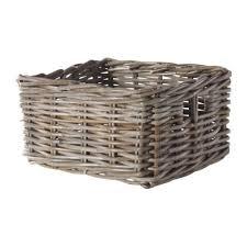ikea baskets byholma basket grey 25x29x15 cm ikea