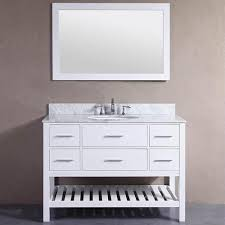 48 inch belvedere white bathroom vanity with marble top and