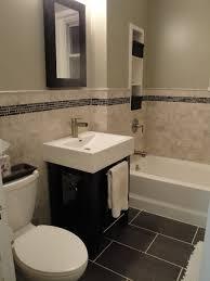 Contemporary Tile Bathroom Marble Subway Tile Bathroom Contemporary Bathroom New York