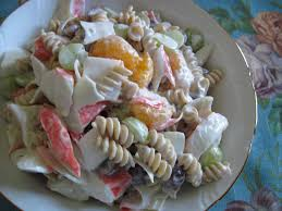 mum in bloom recipe fruity crab pasta salad