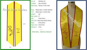 custom graduation sashes 54 customized graduation sashes custom graduation stoles and