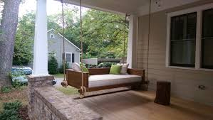 landscaping wood porch swings with wooden flooring and wood wall