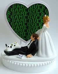 gamer cake topper wedding cake topper gaming themed gamer