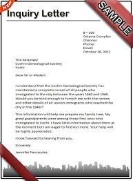 letter of inquiry