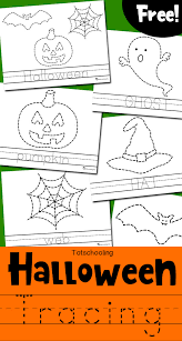 halloween tracing worksheets totschooling toddler preschool