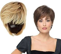 former qvc host with short blonde hair hairdo wispy cut wig page 1 qvc com