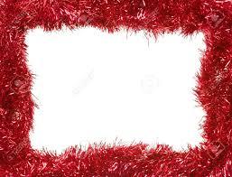 christmas tinsel christmas tinsel garland forming a rectangular frame with