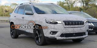 jeep cherokee stinger bumper 2018 jeep cherokee spied goodbye quirky headlights