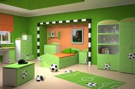 child bedroom design with football themes 2010 latest