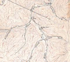 definition pattern of drainage landforms on topographic maps