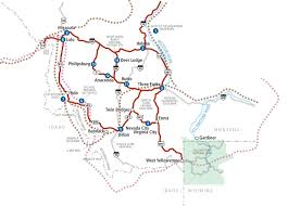 Bitterroot Mountains Map Rocky Mountain Auto Tours Lewis U0026 Clark Trail