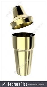 cocktail shaker vector illustration of golden shaker