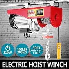 new pro heavy duty 440lb electric motor overhead winch hoist crane