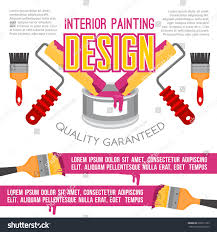 Interior Painting Tools House Repair Painting Works Poster Painting Stock Vector 696911722
