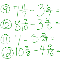 Subtracting Mixed Fractions Worksheets Showme Subtracting Mixed Fractions And Regrouping