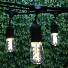 100 ft black commercial medium string light w suspender led s14