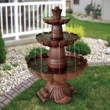 Tiered Backyard Landscaping Ideas by Alpine Valencia 3 Tiered Outdoor Fountain Walmart Com