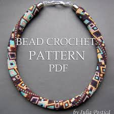 beaded crochet necklace pattern images Tutorial for bead crochet necklace from beadedtreasury on etsy jpg