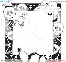 halloween borders clipart graveyard and skeleton clipart