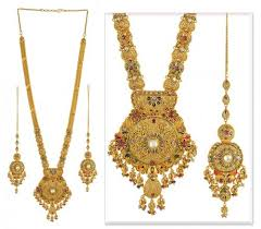 gold long necklace set images 22k antique patta set ajns50575 22k gold antique finished jpg