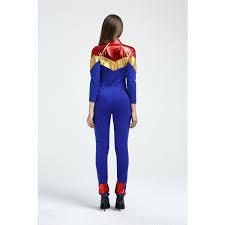 Ms Marvel Halloween Costume Captain Marvel Ms Marvel Carol Danvers Cosplay Costumes Jumpsuit