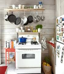 kitchen pan storage ideas custom pot rack on a cabin kitchen via countrylivingpot and pan