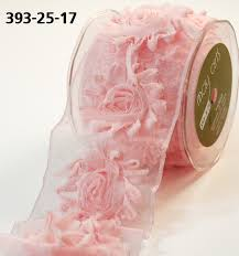 wired ribbon 2 5 inch sheer frayed flowers wired ribbon may arts