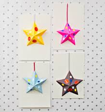 hello wonderful diy origami paper star cards kids can make