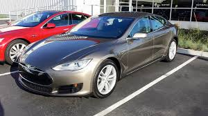 tesla model s 70d in new warm silver color
