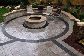 Ideas For Paver Patios Design Unique Paver Patio Designs With Pit Garden