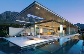 modern home with pool size
