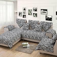Sure Fit White Sofa Slipcover Zebra Flannel 2 4 3 Seat Sofa Slipcover Sectional Fabric Sure Fit