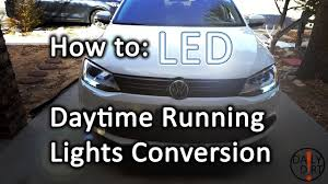 What Are Drl Lights How To Daytime Running Lights To Led Vw Jetta Mk6 Youtube