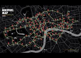 nike map nike inspires londoners with the nikefuel map nike