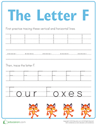 practice tracing the letter f worksheet education com