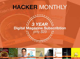 get a three year digital subscription to hacker monthly for the