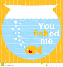 fish valentines fish on a bowl valentines day card stock illustration image