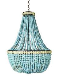 turquoise beaded chandeliers high diy apartment therapy