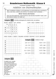 mathe brüche klasse 6 kohl verlag grundwissen mathematik klasse 6