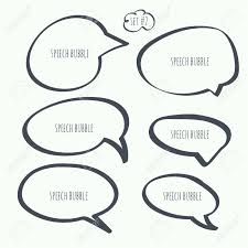 speech bubble hand drawn set hand drawn speech bubble vector elements for text royalty