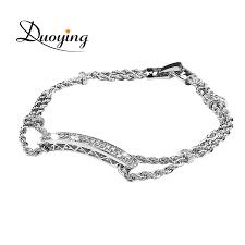 duoying fashion bracelet design charm bracelet for