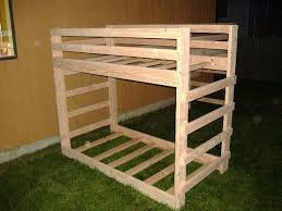 Easy And Strong 2x4 U0026 2x6 Bunk Bed 6 Steps With Pictures by Twin Twin Bunk Bed Set Montana Style 15 Steps With Pictures