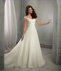 wedding dress a line a line cap sleeves lace wedding dress uniqistic