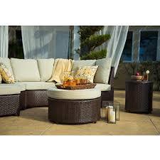 Brown Wicker Patio Furniture Amazon Com Starsong Ms038 Borealis 8 Piece Deep Seating Group