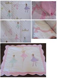 girls bedding full pink ribbons ballerina girls bedding full queen 3pc quilt set